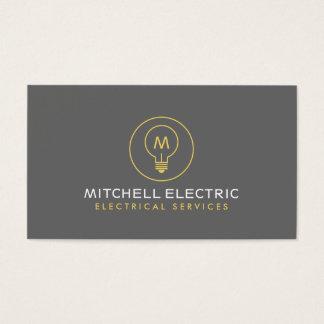 LIGHT BULB MONOGRAM LOGO for ELECTRICANS