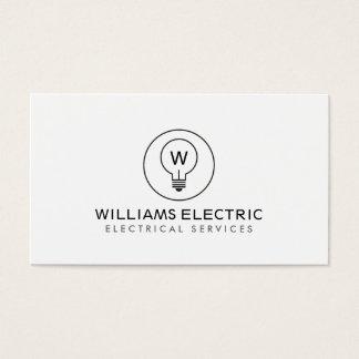 LIGHT BULB MONOGRAM LOGO on WHITE for ELECTRICANS