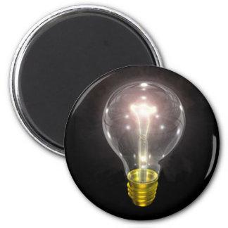 light bulb on blk 3 inch flare magnet