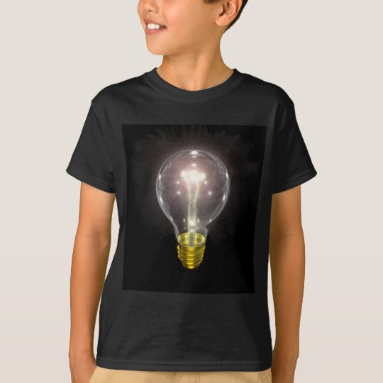 light bulb on blk 3 inch flare T-Shirt