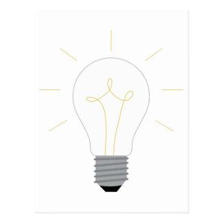 Light Bulb Postcard