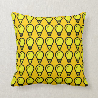 Light Bulb-Tangerine Yellow Cushion