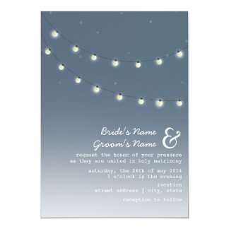 Light Bulbs Evening Wedding Invitation