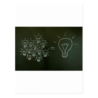 Light bulbs teamwork concept.jpg postcard