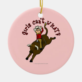 Light Bull Rider Christmas Ornaments