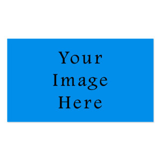 Light Cerulean Blue Color Trend Blank Template Pack Of Standard Business Cards