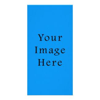 Light Cerulean Blue Color Trend Blank Template Customized Photo Card
