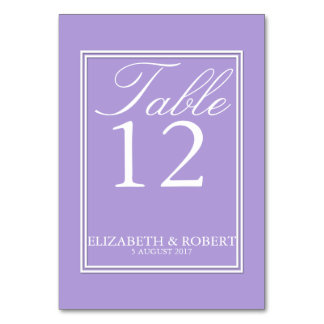 Light Chalky Pastel Purple Wedding Invitation Set Table Cards