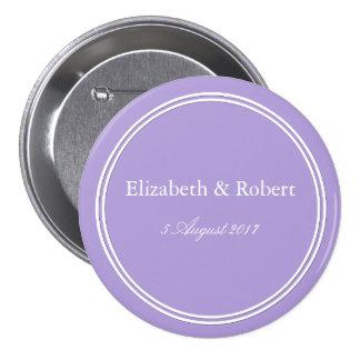 Light Chalky Pastel Purple Weding Decoration 7.5 Cm Round Badge
