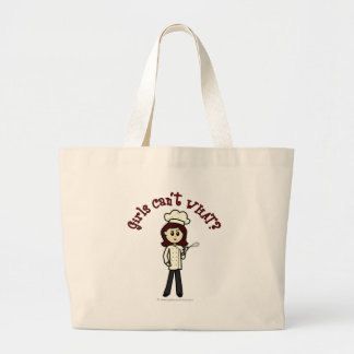 Light Chef Girl Large Tote Bag