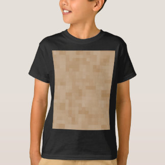Light Coffee Brown Color Abstract Pattern. T-Shirt