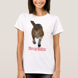 Light colored apparel - Kiss My Basset T-Shirt