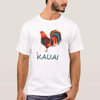 Light colored Hawaiian T-shirt Kauai Wild Rooster