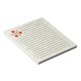 Light colored mosaic notepad