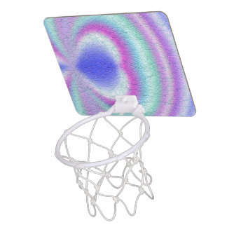 Light colored pattern of line mini basketball hoop