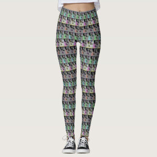Light Colors and Hummingbirds Pattern Leggings