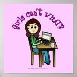 Light Computer Girl Poster