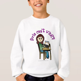 Light Computer Girl Sweatshirt