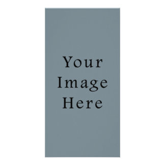 Light Confederate Blue Grey Trend Color Gray Blank Customised Photo Card