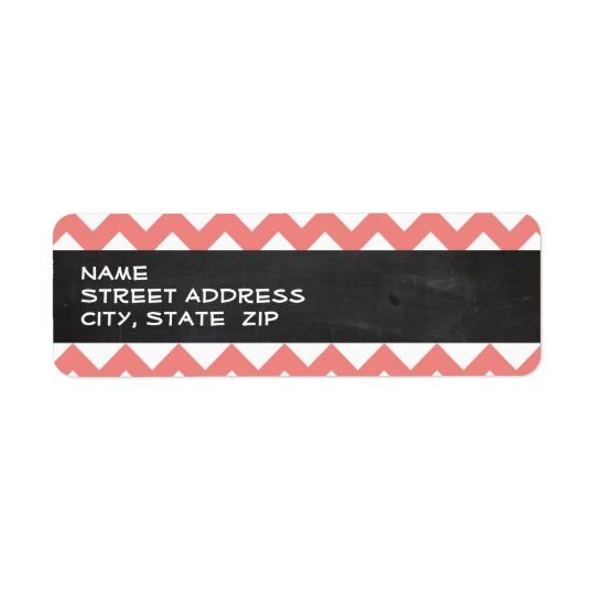 Light Coral Chevron Stripes; Chalkboard look