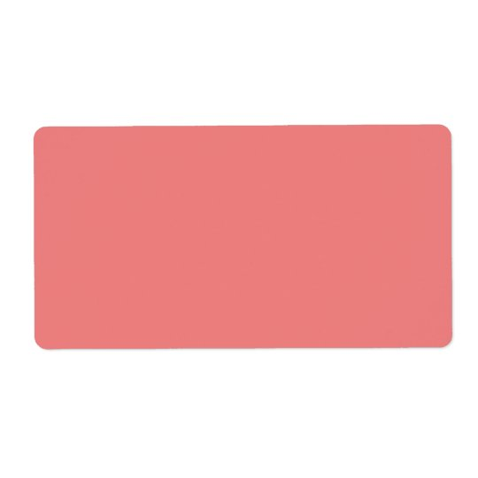 Light Coral Cute Monochromatic Shipping Label
