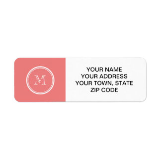 Light Coral High End Colored Monogram