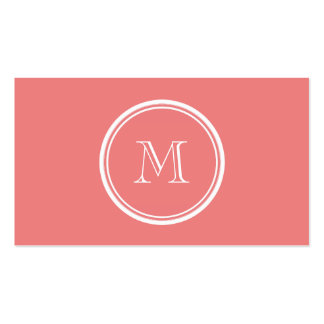 Light Coral High End Colored Monogram Pack Of Standard Business Cards