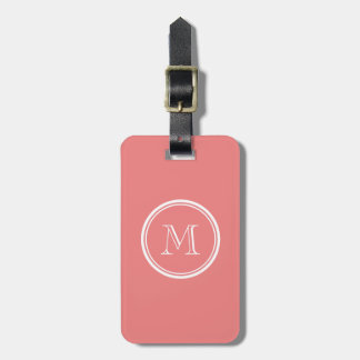 Light Coral High End Colored Monogram Luggage Tag