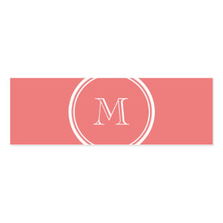 Light Coral High End Colored Monogram Pack Of Skinny Business Cards