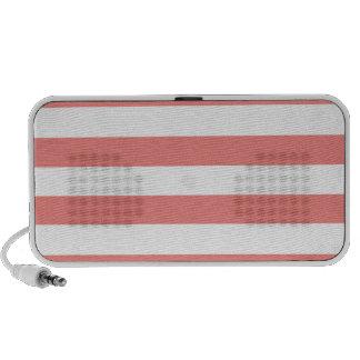 Light Coral Horizontal Stripes Mini Speakers