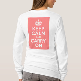 Light Coral Keep Calm and Carry On T-Shirt