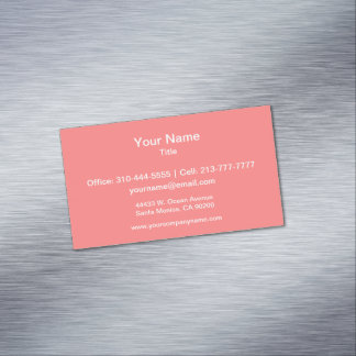 Light Coral Solid Color Magnetic Business Cards