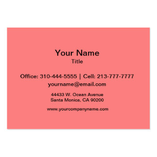 Light Coral Solid Color Pack Of Chubby Business Cards