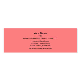Light Coral Solid Color Pack Of Skinny Business Cards