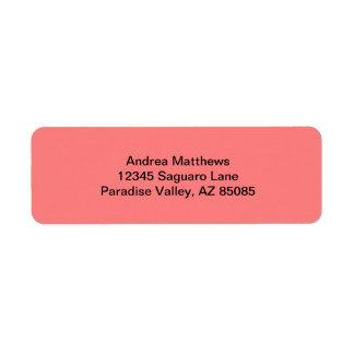 Light Coral Solid Color Return Address Label