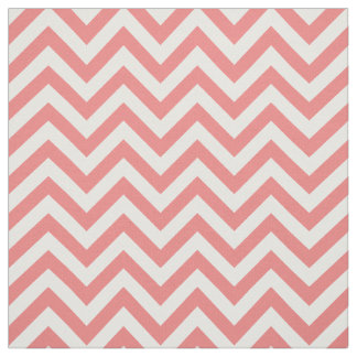 Light Coral White LG Chevron ZigZag Pattern 12I Fabric
