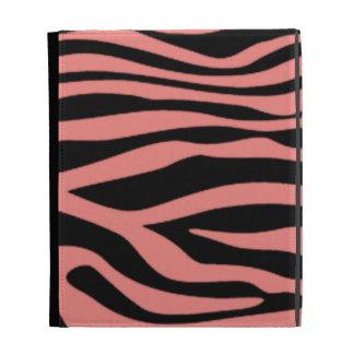 Light Coral Zebra Stripes Animal Print iPad Case