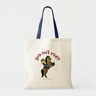 Light Cowgirl on Horse Tote Bag