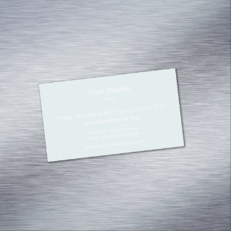 Light Cyan Solid Color Magnetic Business Cards