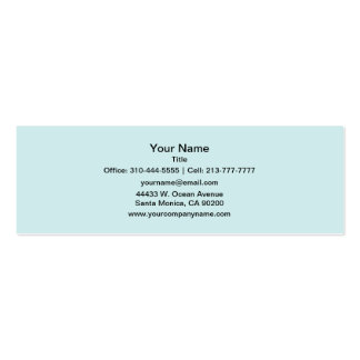 Light Cyan Solid Color Pack Of Skinny Business Cards