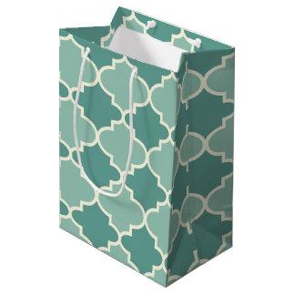 Light & Dark Blue Moroccan Lattice Gift Bag
