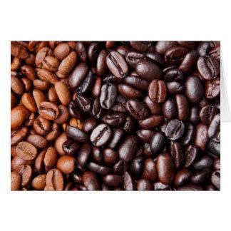 Light & Dark Roast Coffee Beans - Customized Blank Card
