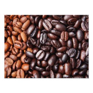 Light & Dark Roast Coffee Beans - Customized Blank Photograph