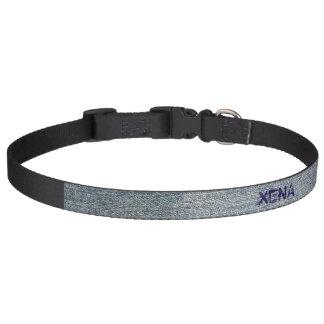 Light Denim Personalize Pet Collar
