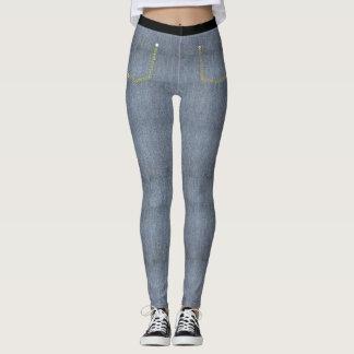 Light Denim Skinny Jeans Leggings