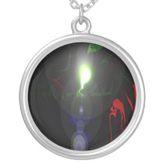 Light Dispels the Darkness Round Pendant Necklace