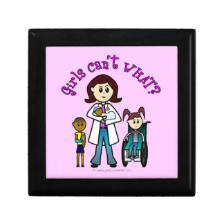 Light Doctor Girl Small Square Gift Box