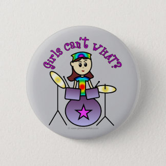 Light Drummer Girl 6 Cm Round Badge