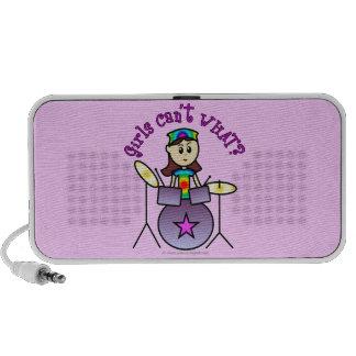 Light Drummer Girl Travelling Speaker