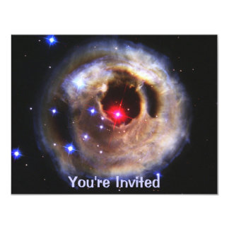 Light Echoes From A Red Supergiant 11 Cm X 14 Cm Invitation Card